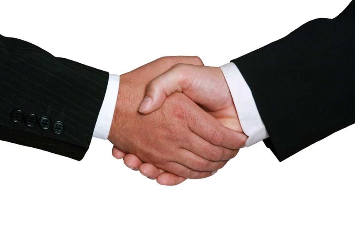 Handschlag freigestellt , handshake isolated