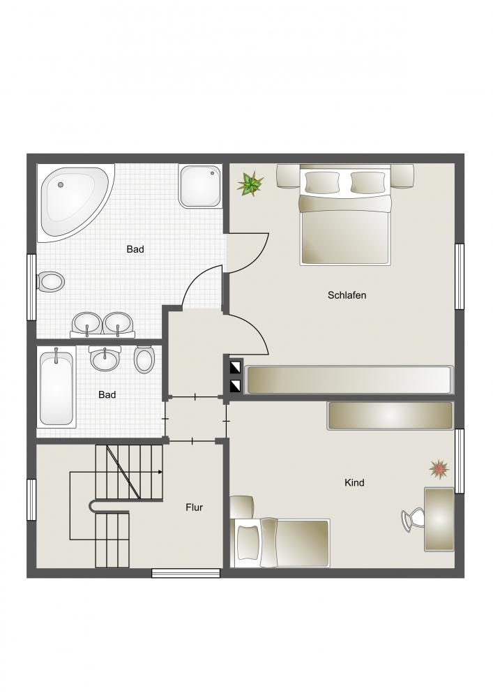 1. Obergeschoss Umbauvorschlag