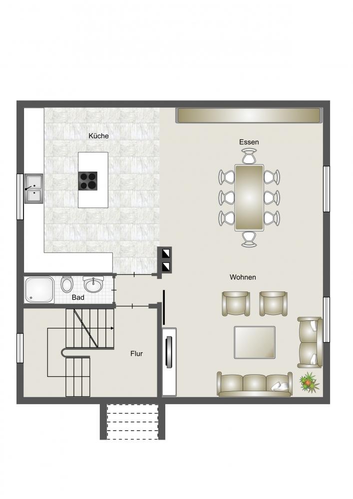 Erdgeschoss Umbauvorschlag