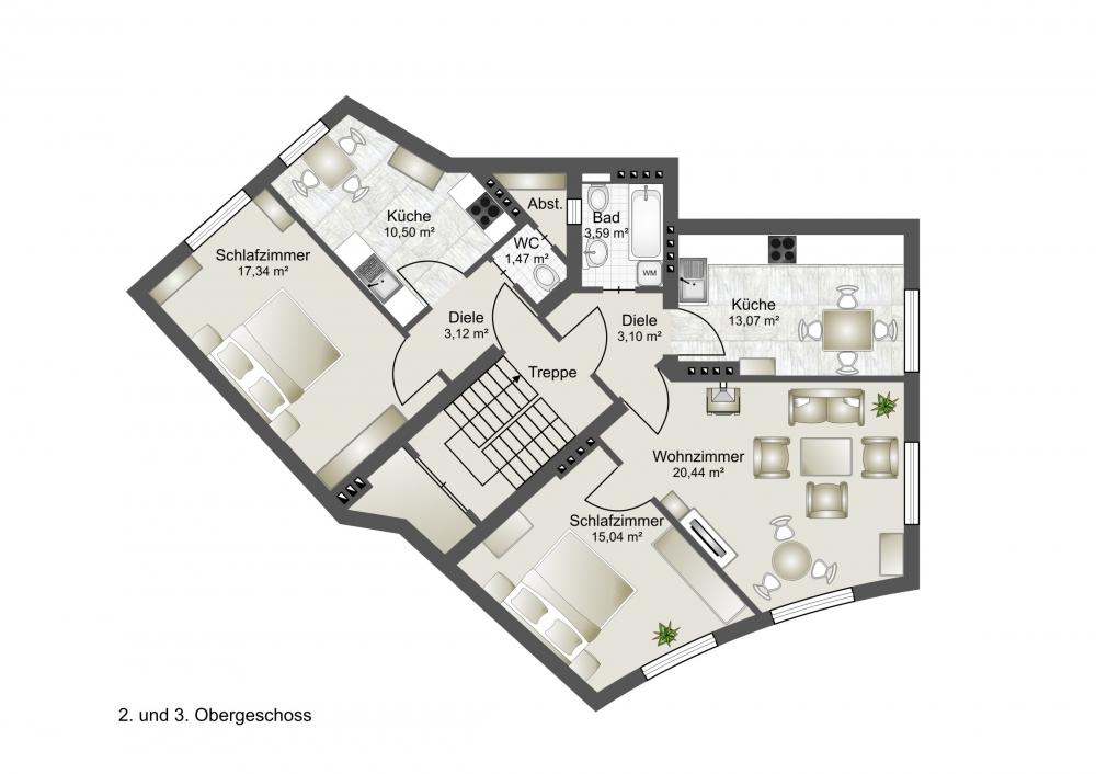 2. und 3. Obergeschoss