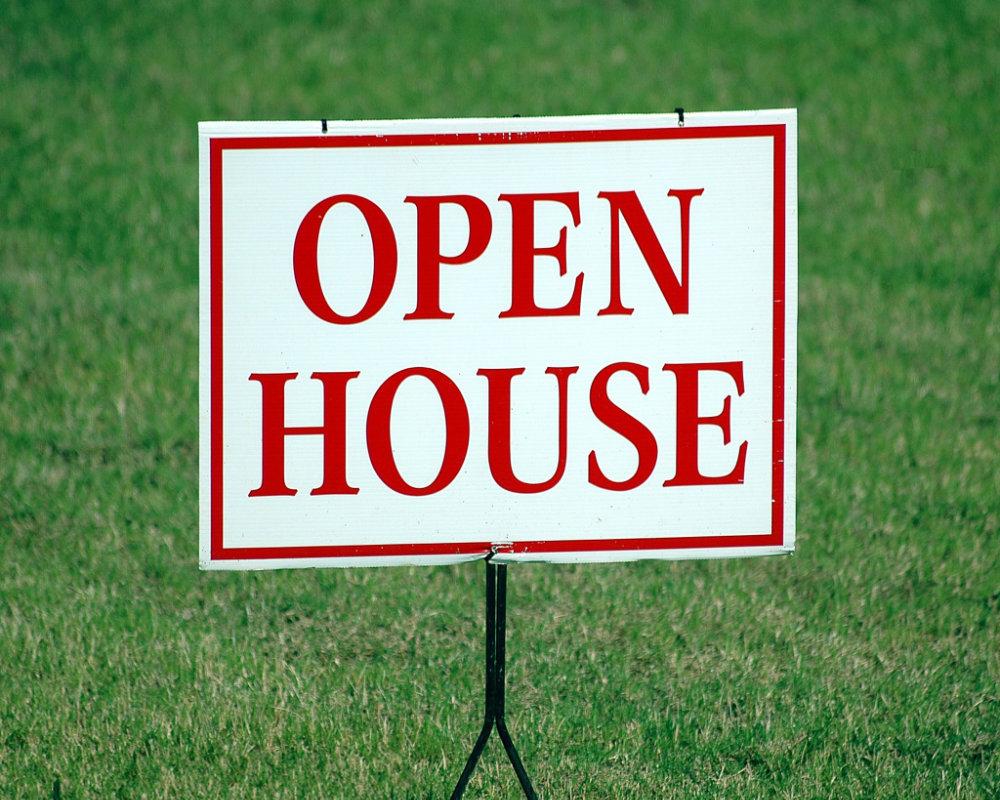 Open House Besichtigungen Schild