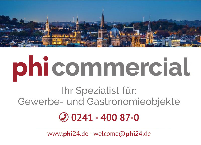 Immobilienmakler Aachen Gastronomie mieten mit Immobilienbewertung