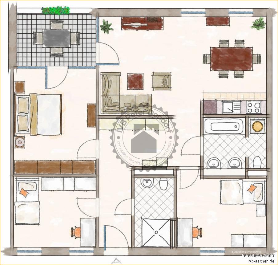Immobilienmakler Aachen / Brand Etagenwohnung kaufen mit Immobilienbewertung