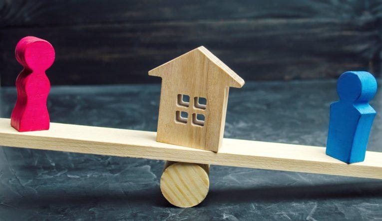 Immobilienaufteilung in der Scheidung