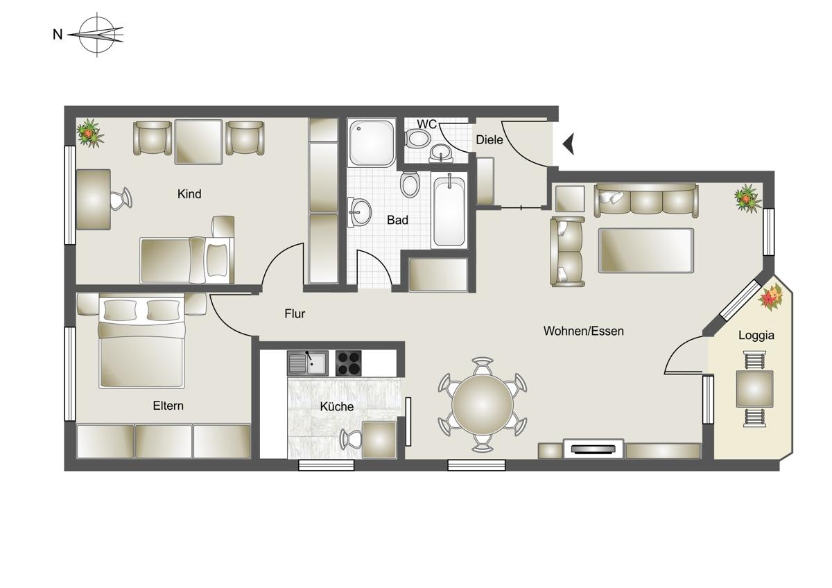 Immobilienmakler Bergheim Erdgeschosswohnung referenzen mit Immobilienbewertung
