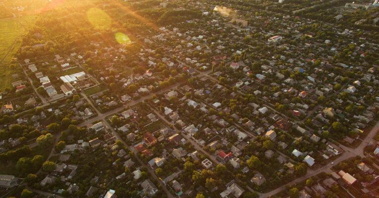 Wohngebiet Drohne