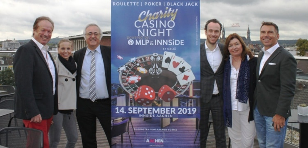 Mitglieder von Aachen Sozial bei der Charity Casino Night