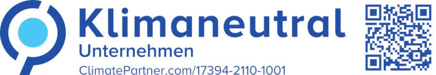 Klimaneutrales Unternehmen Banner mit QR Code